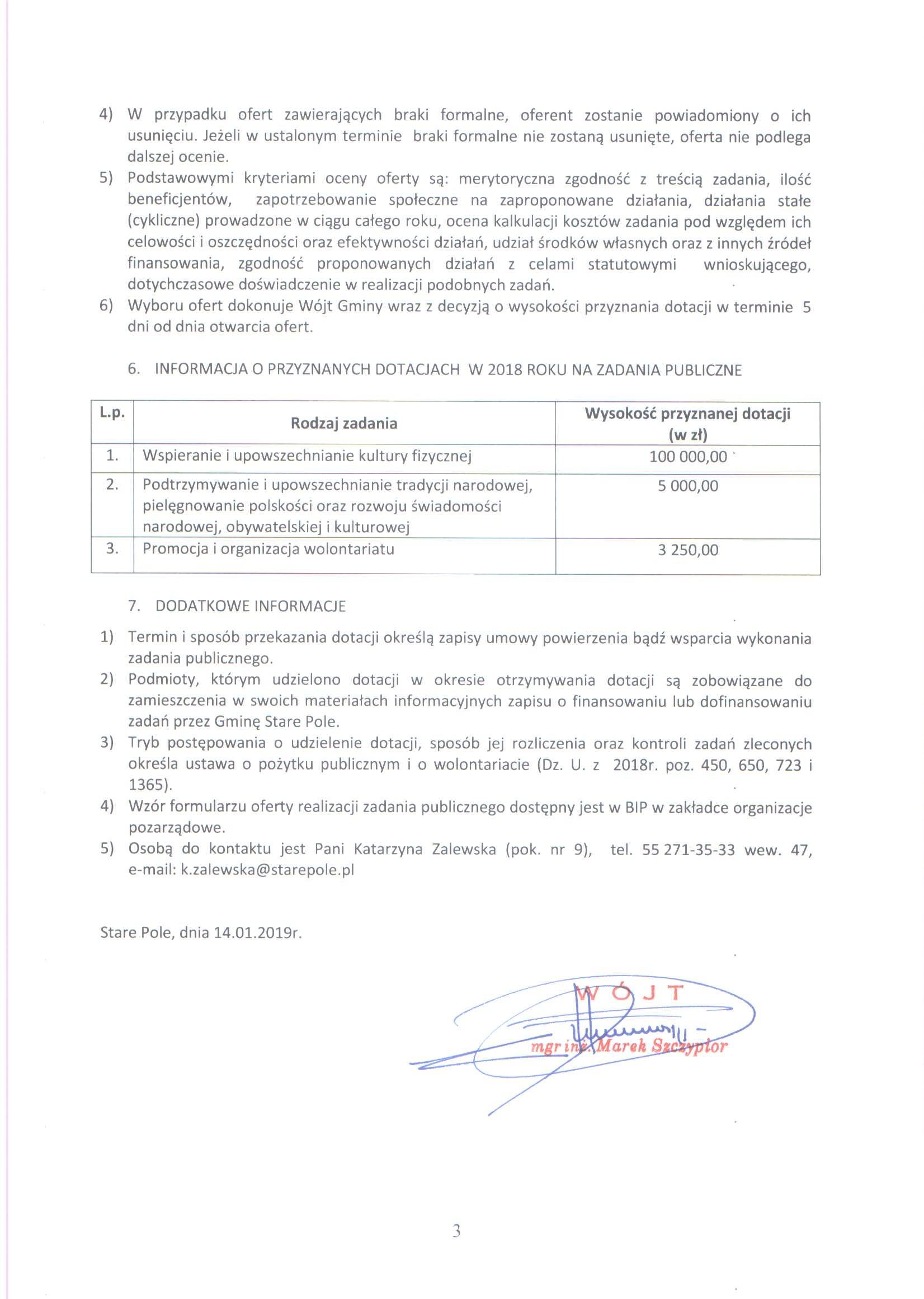 Ogłoszenie z dnia 14 stycznia 2019 r. o otwartym konkursie ofert - str. 3
